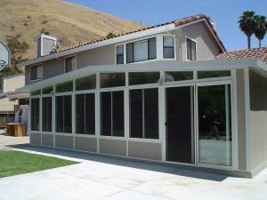 Look at all this glass - that's an enclosed sunroom.