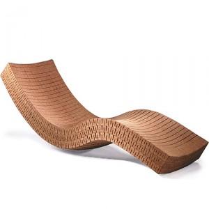 A modern looking chaise lounge - looks like cork.