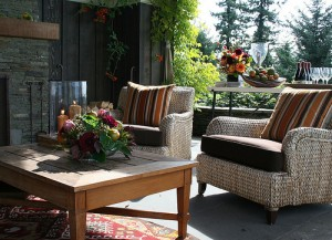 A beautiful looking outdoor room set up.