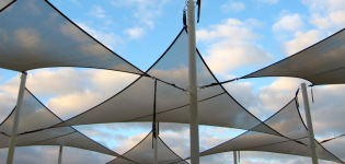 These Australian style shade sails make great canopy cover for a deck or patio. & Deck Canopies | Deck Canopy | Patio Covers Place