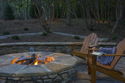 Firepitphotos info wp Content uploads 2013 06 patio Fire Pit Designs likewise Awesome Wire Fence Decorating Ideas besides 2 also 48 Awesome Garden Hot Tub Designs moreover Outdoor Kitchen Grills And Rustic Stone Counter Island With Light Tone Counertop  bined With Black Polished Iron Backrest Barstool On Cream Marble Tiled Flooring Also Outdoor Kitchen Designs. on rustic backyard deck designs