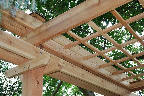 Pergola with Lattice Roof