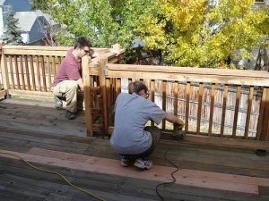 deck railing ideas_wood
